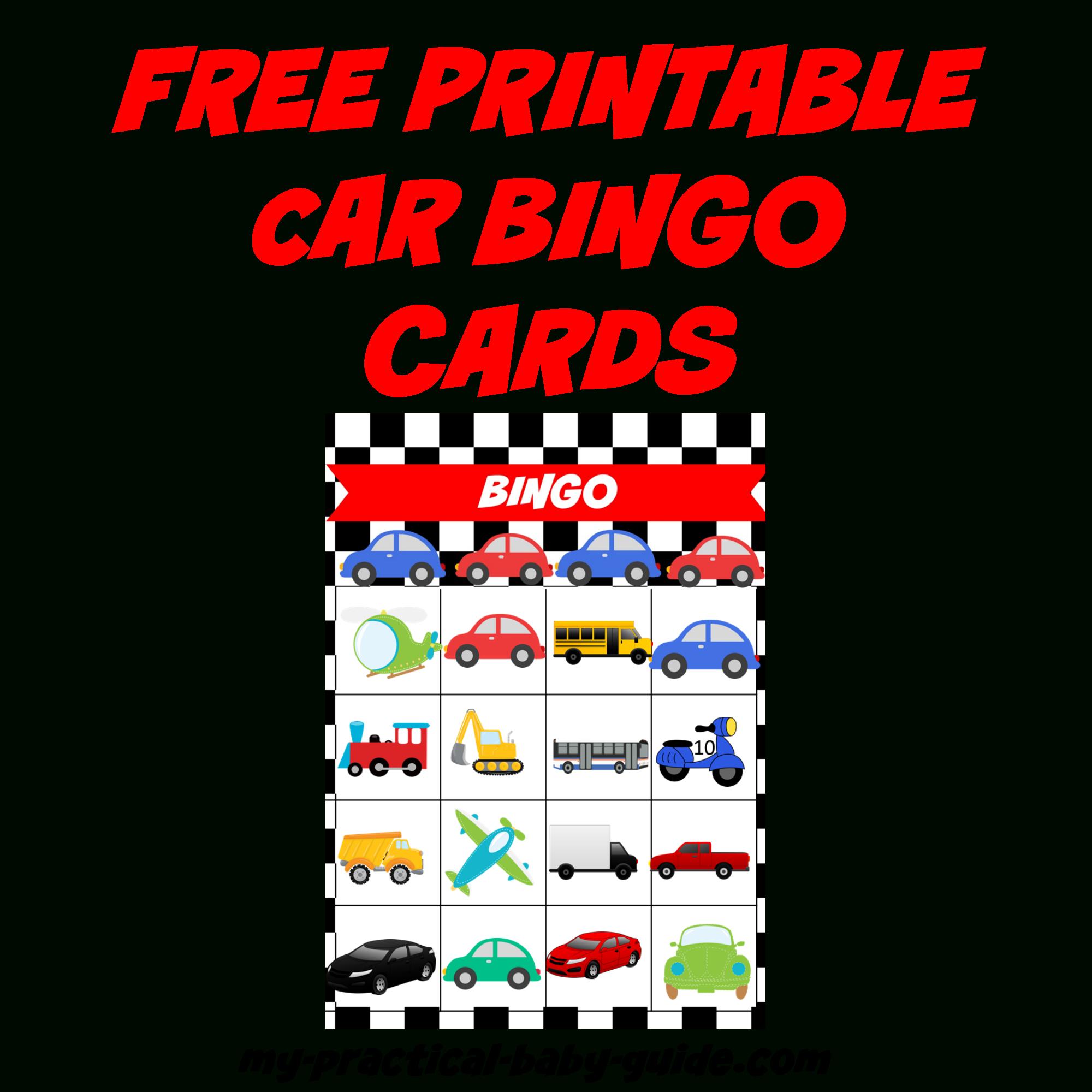 Coolest Car Birthday Ideas - My Practical Birthday Guide In 2019 - Free Printable Car Bingo