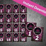 Correct Paparazzi Logo Regular Version Live Numbers Black Pdf | Etsy   Free Printable Live Sale Numbers
