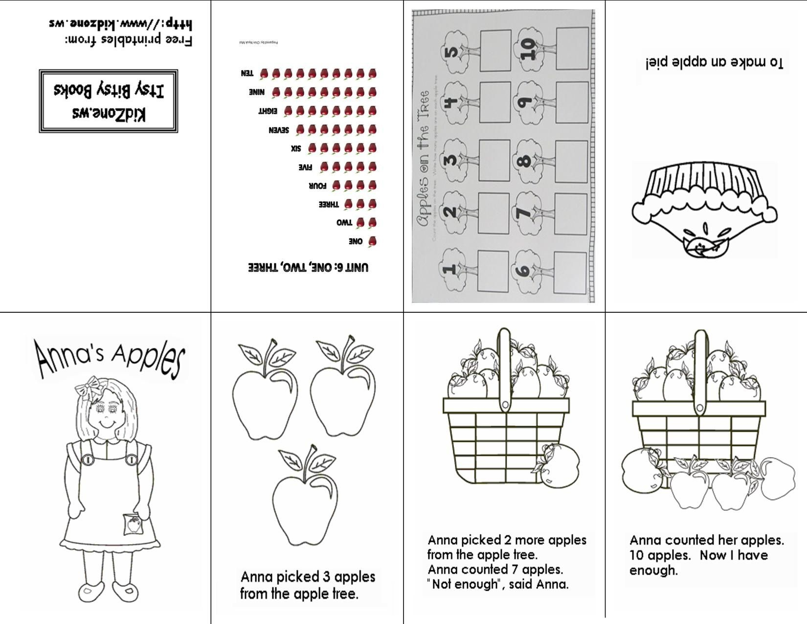 Counting Apples 1-10: One Sheet Printable Mini Book | Free - Free Printable Mini Books