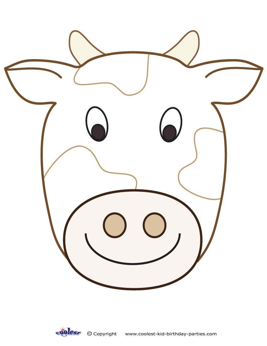 Cow Mask Printable   Tubidportal - Free Printable Hippo Mask