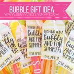 Craft: End Of School Year Bubble Gift Idea   See Vanessa Craft   Free Printable Gift Tags For Bubbles