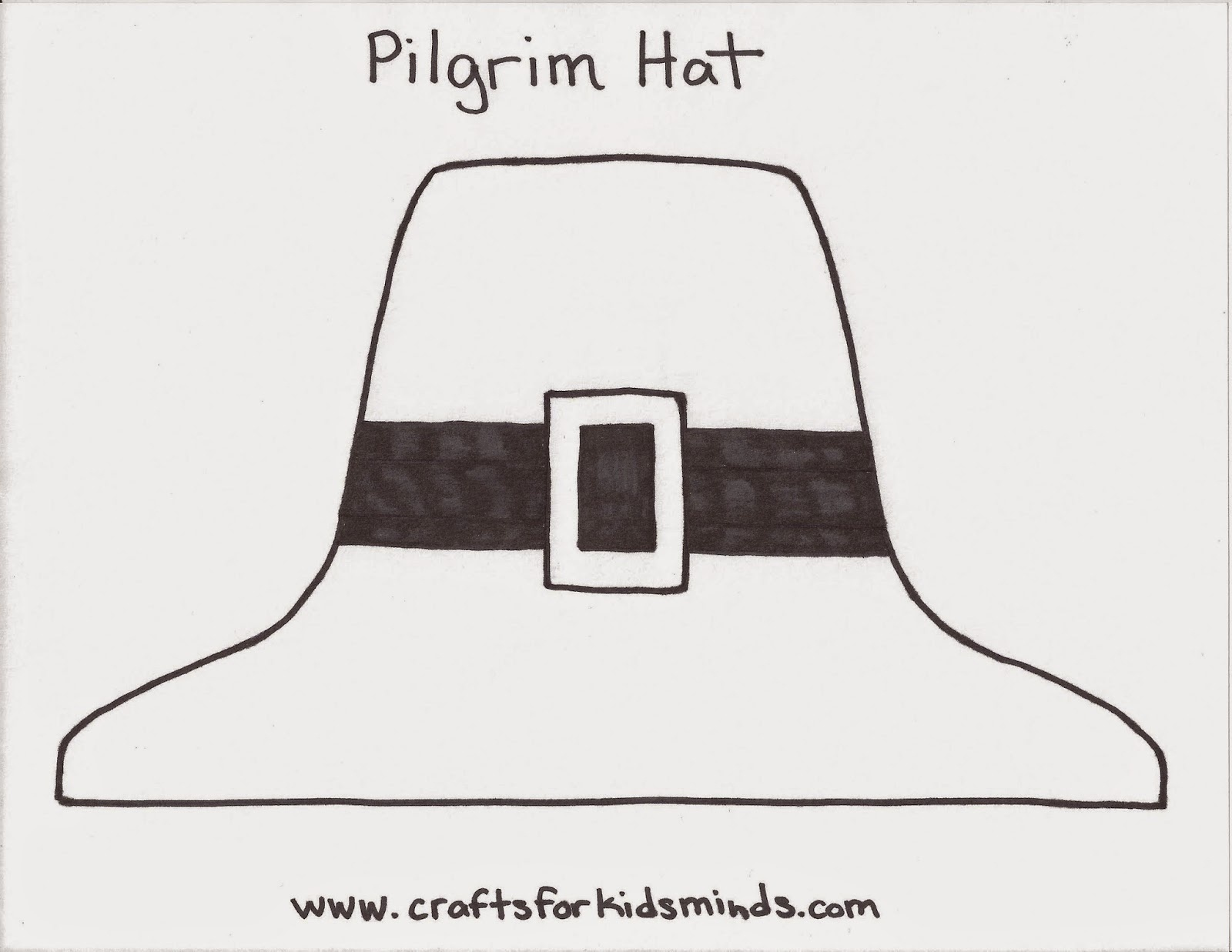 Crafts For Kids' Minds: Pilgrim Hat Craft - Free Printable Pilgrim Hat Pattern