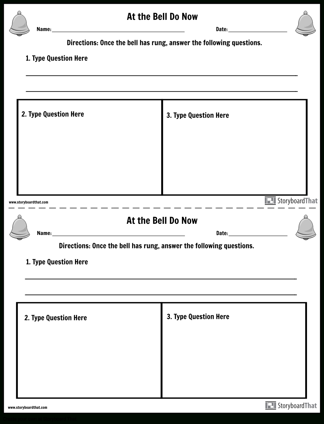 Create Bell Ringer Activities | Bell Ringer Template - Free Printable Bell Ringers