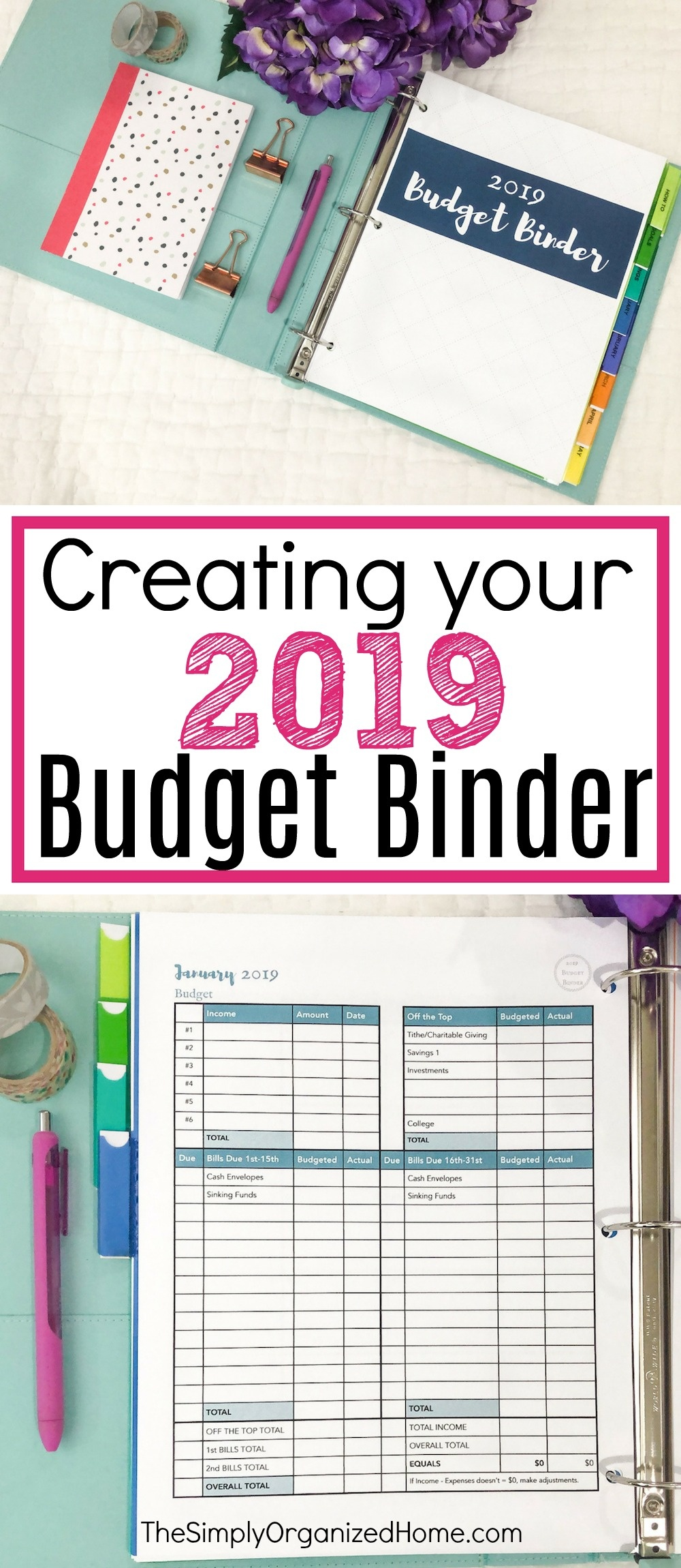 Creating Your 2019 Budget Binder - The Simply Organized Home - Budget Binder Printables 2018 Free