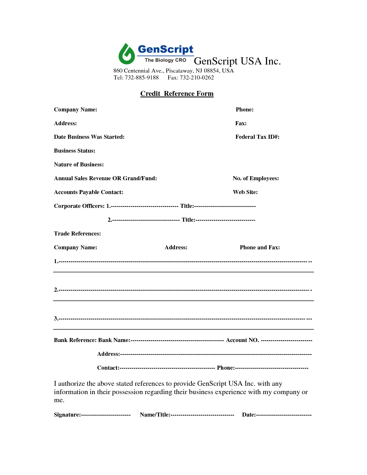 Credit Report: Company Credit Report Usa - Business Credit Reference - Free Credit Report Printable Form
