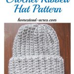 Crochet Ribbed Hat Pattern   Homestead Acres   Free Printable Pilgrim Hat Pattern