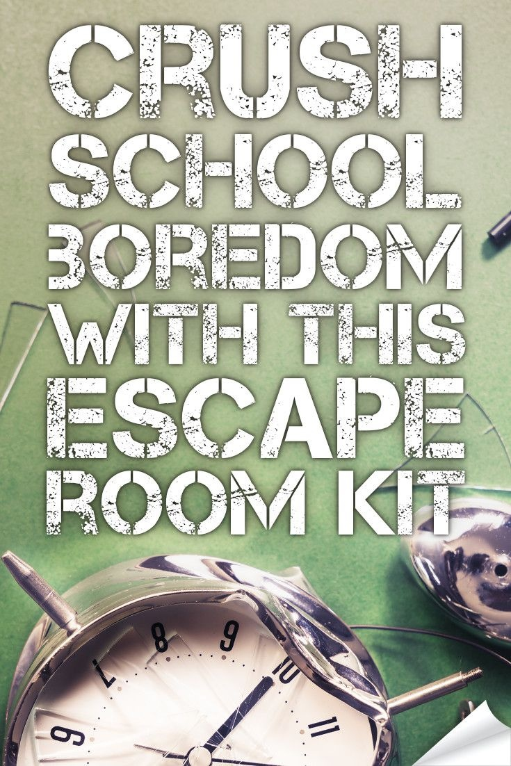 Crush Classroom Boredom With This Hack. | Middle School Language - Free Printable Escape Room Kit Pdf