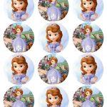 Cupcake Toppers Princess Sofia The First Inspired Round Disney   Sofia The First Cupcake Toppers Free Printable