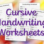 Cursive Handwriting Worksheets – Free Printable! ⋆ Mama Geek   Free Printable Cursive Handwriting Worksheets