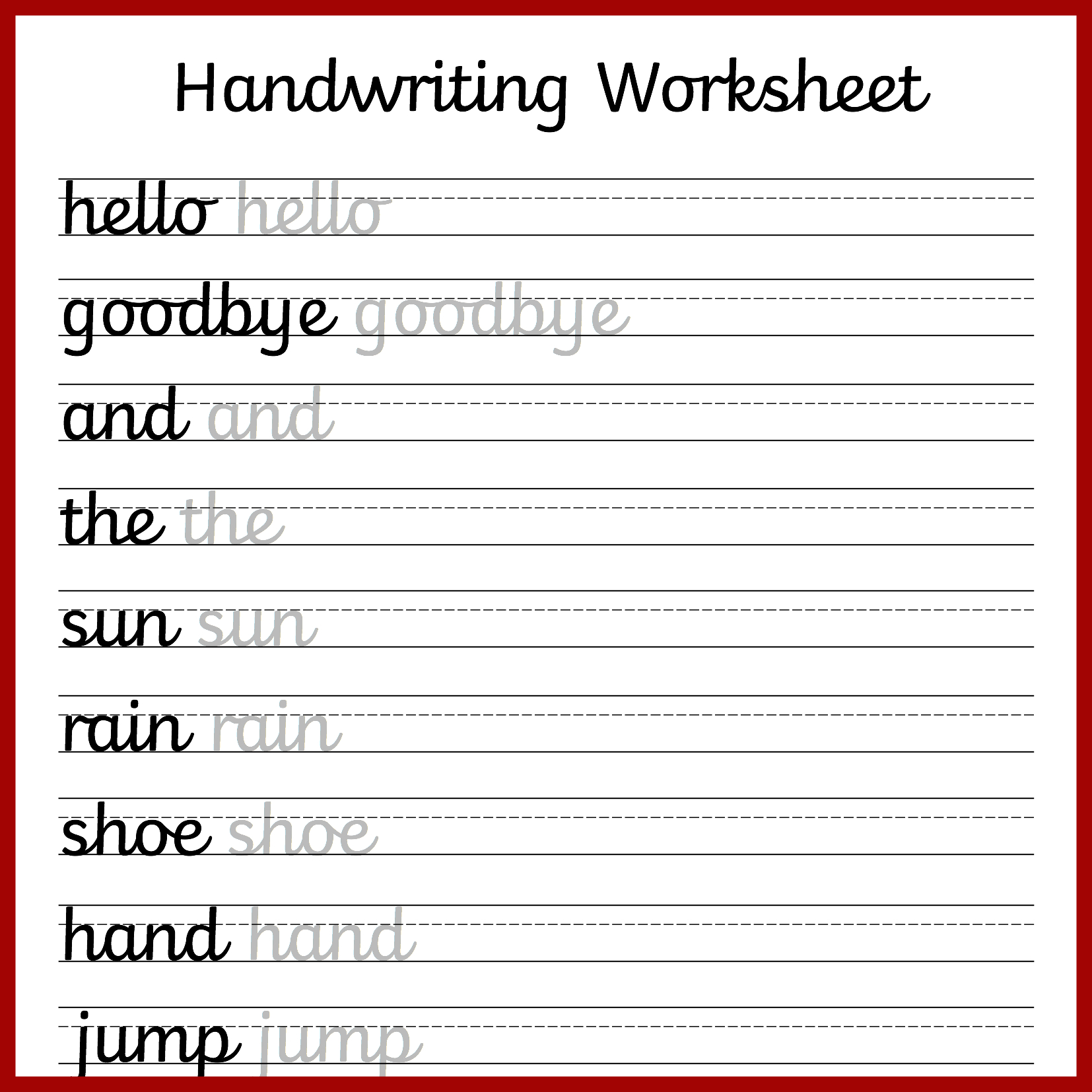 Cursive Handwriting Worksheets – Free Printable! ⋆ Mama Geek - Free Printable Handwriting Worksheets