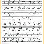 Cursive Letter Worksheet Printables Cursive Alphabet Handwriting   Free Printable Cursive Alphabet