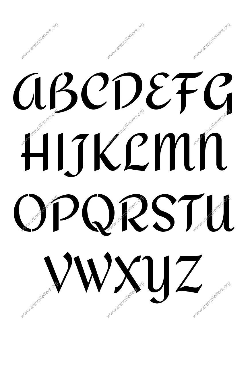 Custom Made Stencils Online | Page-91 | Stencil Letters Org | Fonts - Online Letter Stencils Free Printable