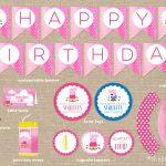 Custom Peppa Pig Birthday Party Printables / Banner / Cupcake | Etsy   Peppa Pig Birthday Banner Printable Free