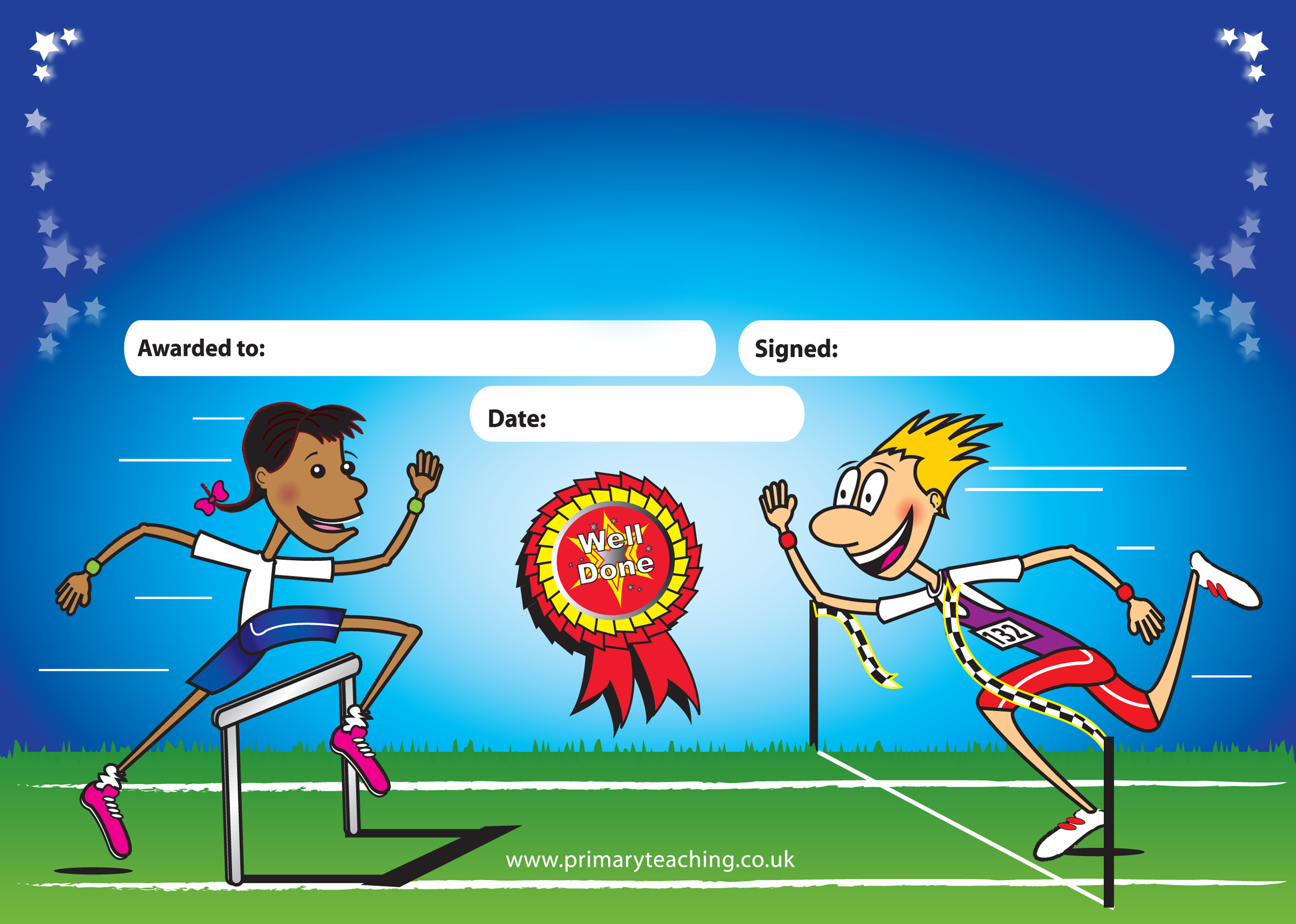 Customised Sports Day Certificate | A5 | Pupil Rewards - Free Printable Sports Day Certificates