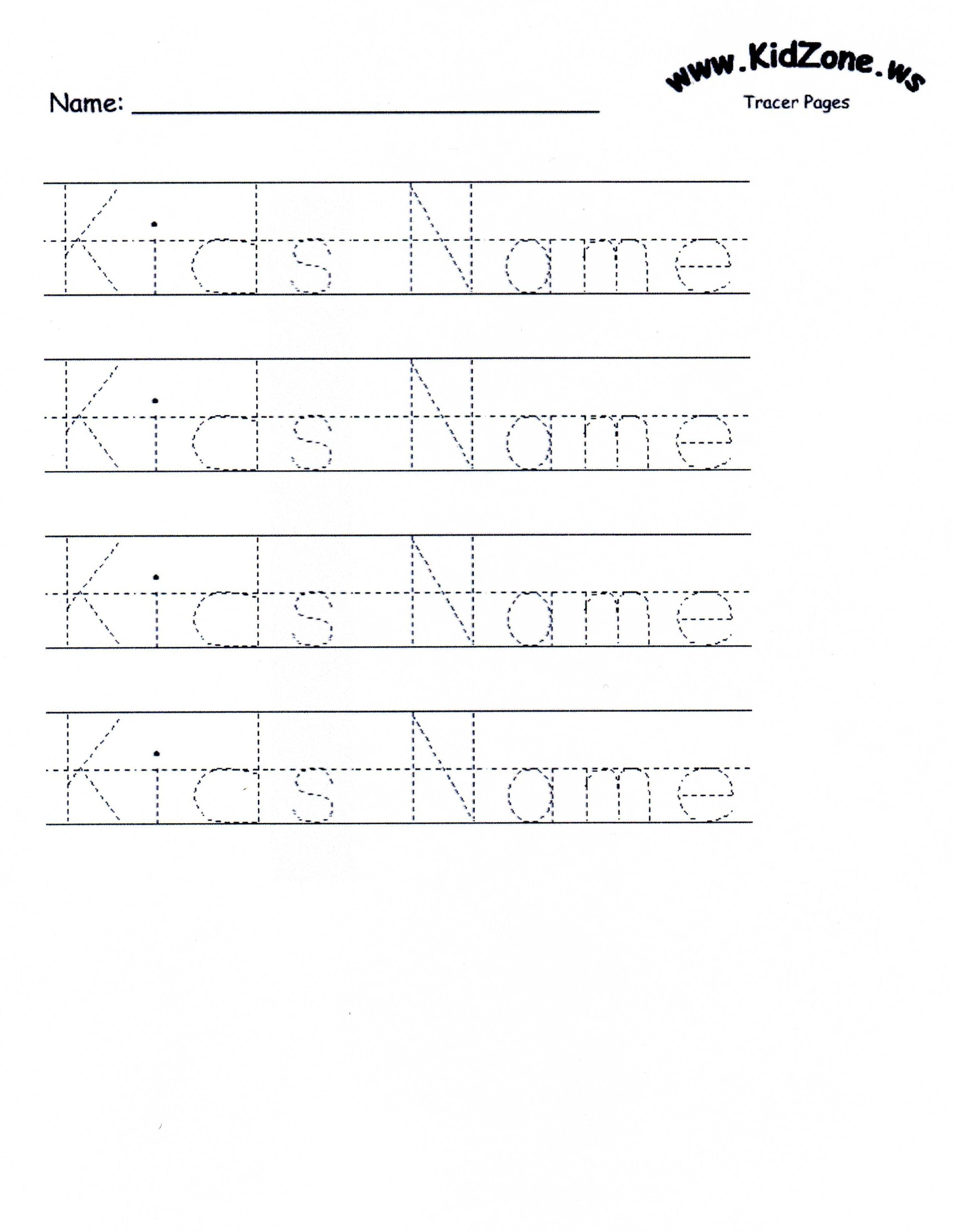 Customizable Printable Letter Pages | Teaching Mackenzie And Juliana - Free Printable Name Tracing Worksheets For Preschoolers