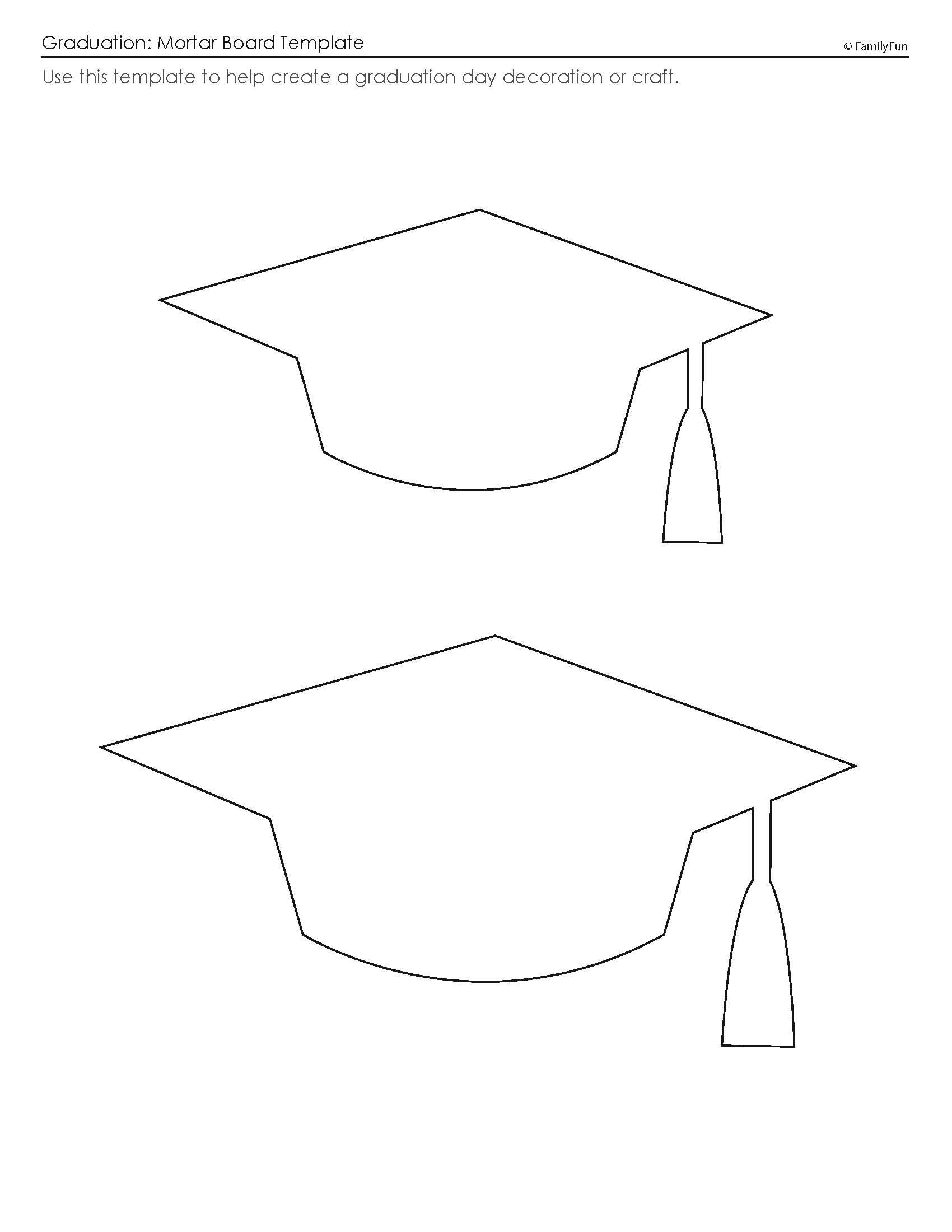 Customize Your Free Printable Mortar Board Template | Graduation - Graduation Cap Template Free Printable
