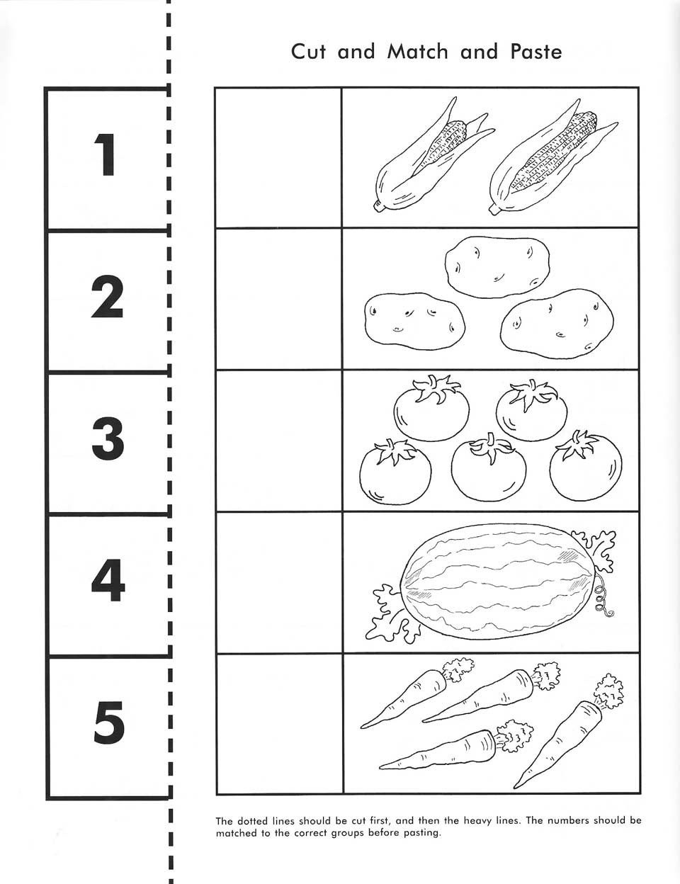 Cut, Count, Match And Paste / Free Printable | Pre-K Math - Free Pre K Math Printables