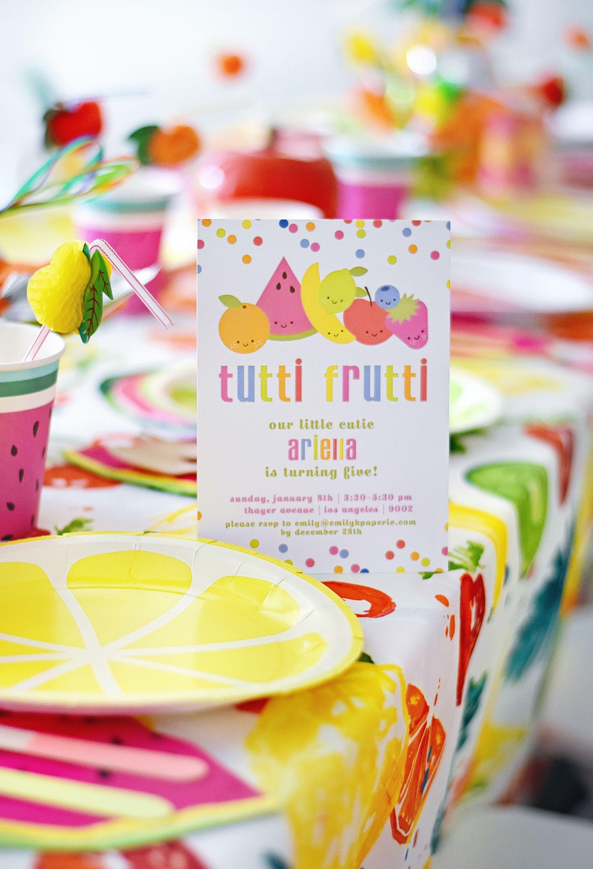 Cute And Colorful Tutti Frutti Birthday Party | Free Printables - Tutti Frutti Free Printables