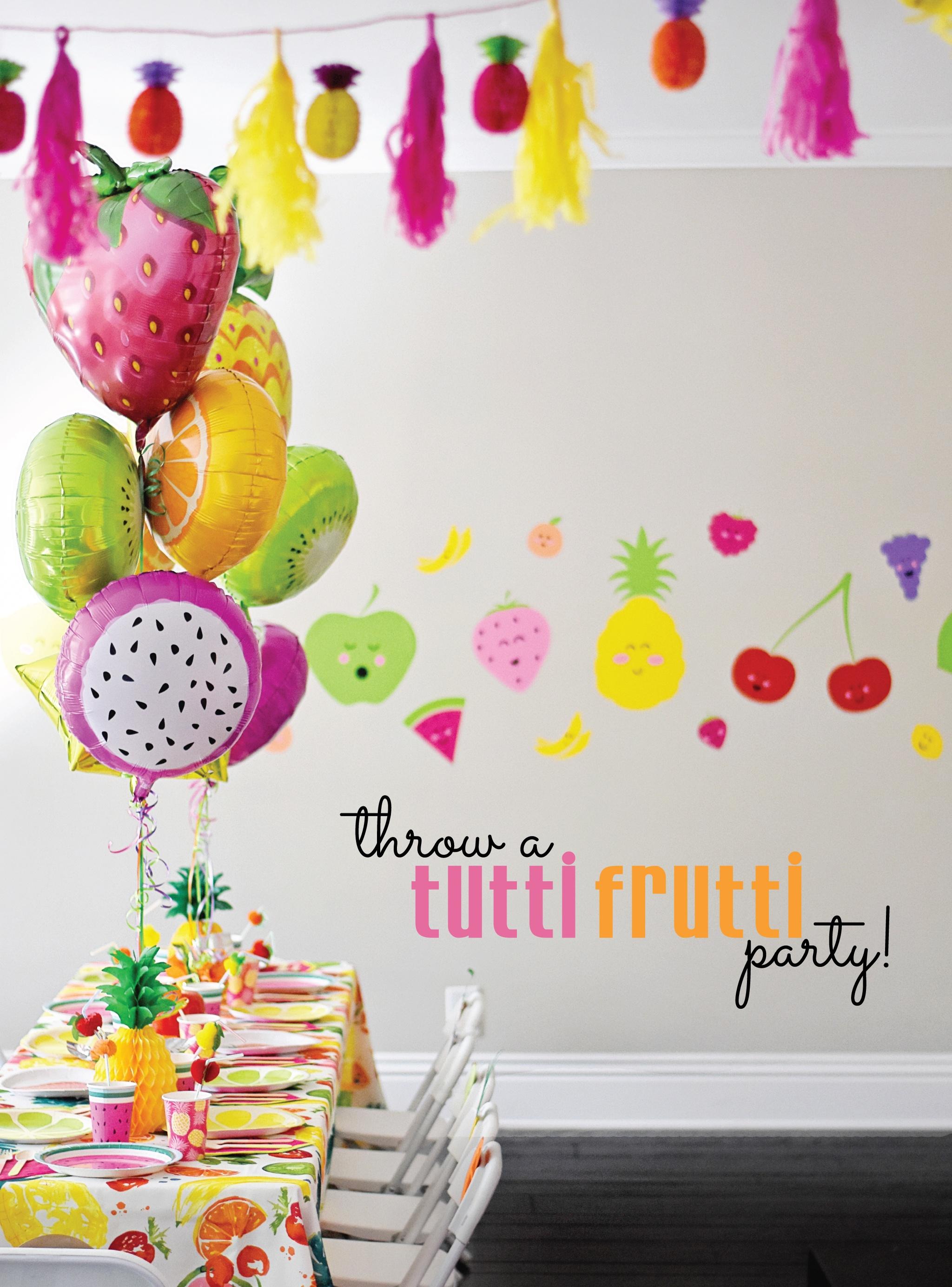 Cute And Colorful Tutti Frutti Birthday Party - Project Nursery - Tutti Frutti Free Printables