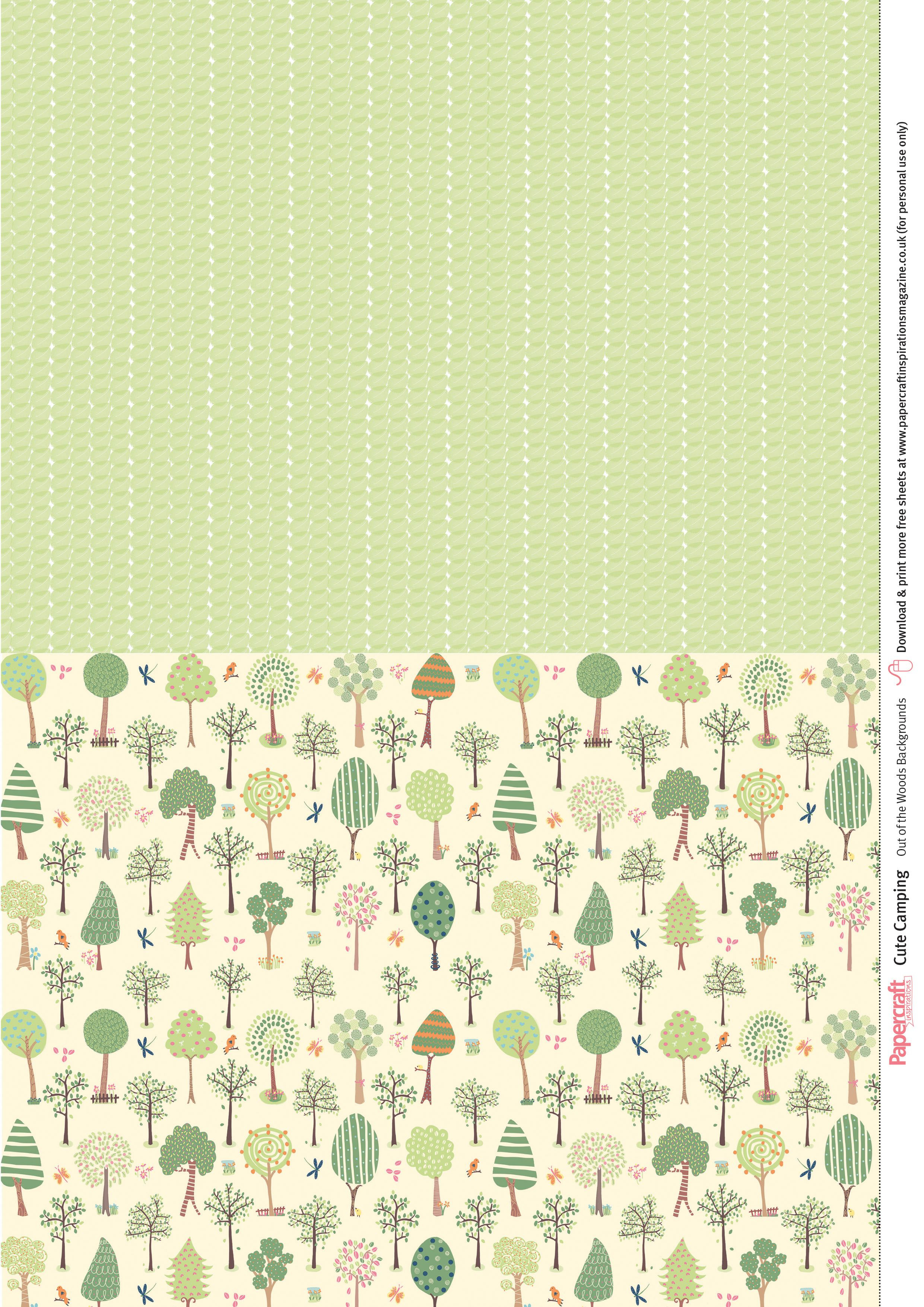 Cute Camping Free Digital Papers | Scrapbook And Smashbook | Free - Free Printable Scrapbook Stuff