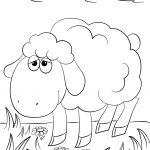 Cute Cartoon Lamb Coloring Page | Free Printable Coloring Pages   Free Printable Pictures Of Sheep