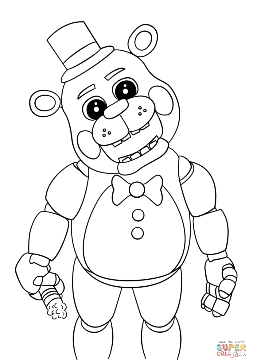 Cute Five Nights At Freddy's Coloring Page | Free Printable Coloring - Five Nights At Freddy's Free Printables