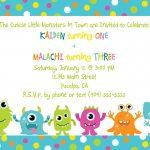 Cute Little Monster Birthday Invitation Printable | Free   Free Printable Monsters Inc Birthday Invitations