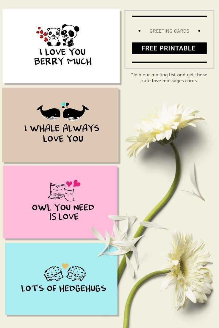 Cute Love Cards For Valentine Day Free Printable Cards! Cute Couples - Free Printable Special Occasion Cards