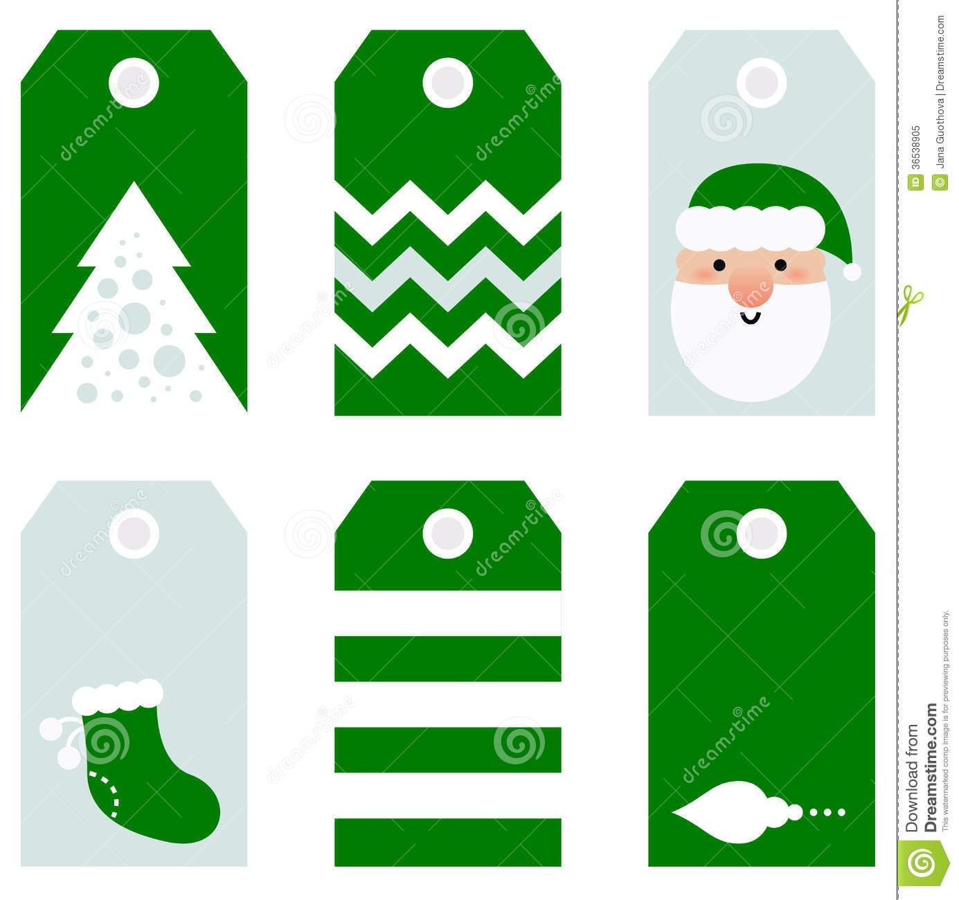 Cute Modern Christmas Holiday Gift Tags Printables Stock Vector - Free Printable Christmas Price Tags