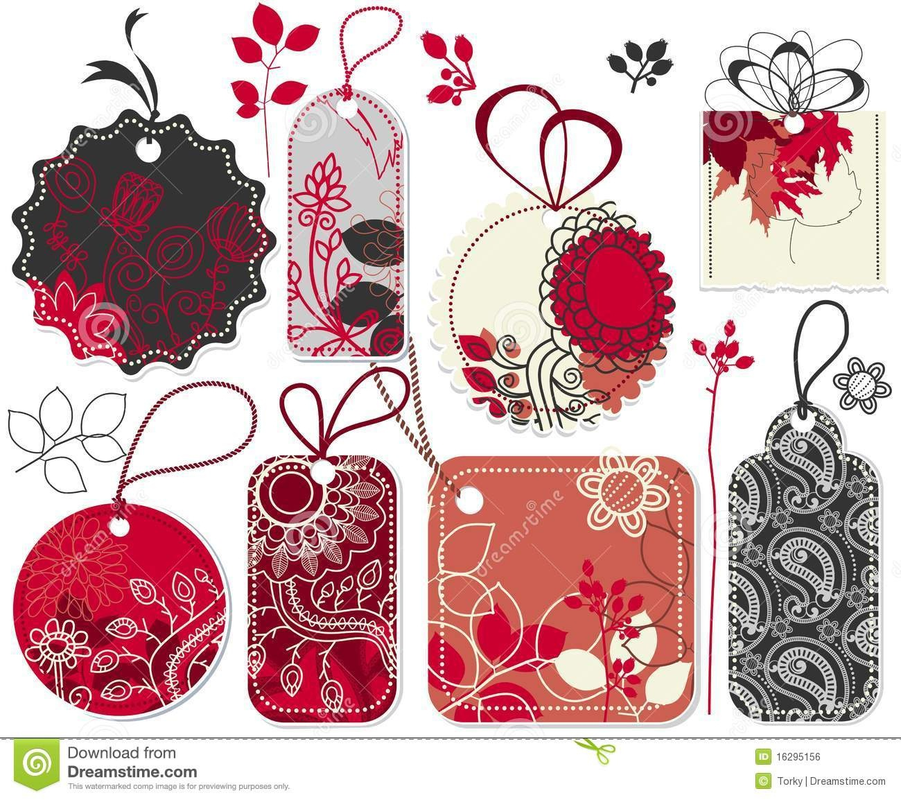 Cute Price Tags Stock Vector. Illustration Of Black, Paper - 16295156 - Free Printable Christmas Price Tags