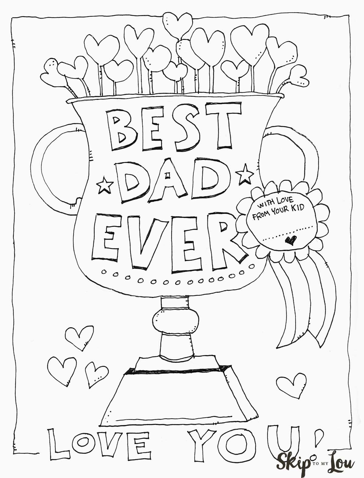 Dad Coloring Page | Father's Day | Kids Fathers Day Crafts, Fathers - Free Printable Fathers Day Cards For Preschoolers