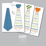 Daddy Ties Free Father's Day Printable | School Muvo Beeld   Free Printable Tie