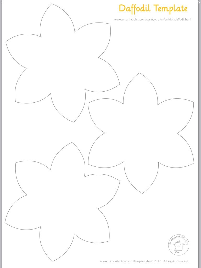 Daffodils Template | Art | Easter Crafts, Easter Crafts For Kids - Free Printable Pictures Of Daffodils