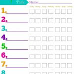 Daily Responsibilities Chart For Kids! Free Printable To Help   Free Printable Chore List