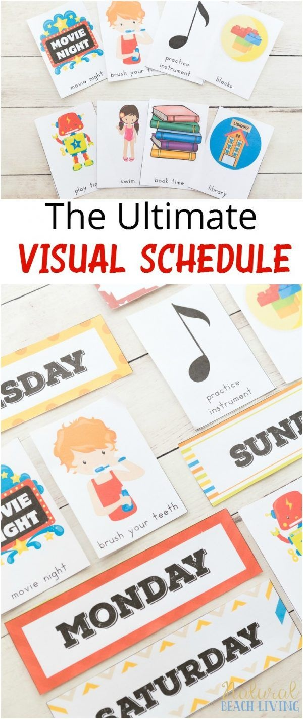 Daily Visual Schedule For Kids Free Printable   Kids Crafts And - Free Printable Schedule Cards