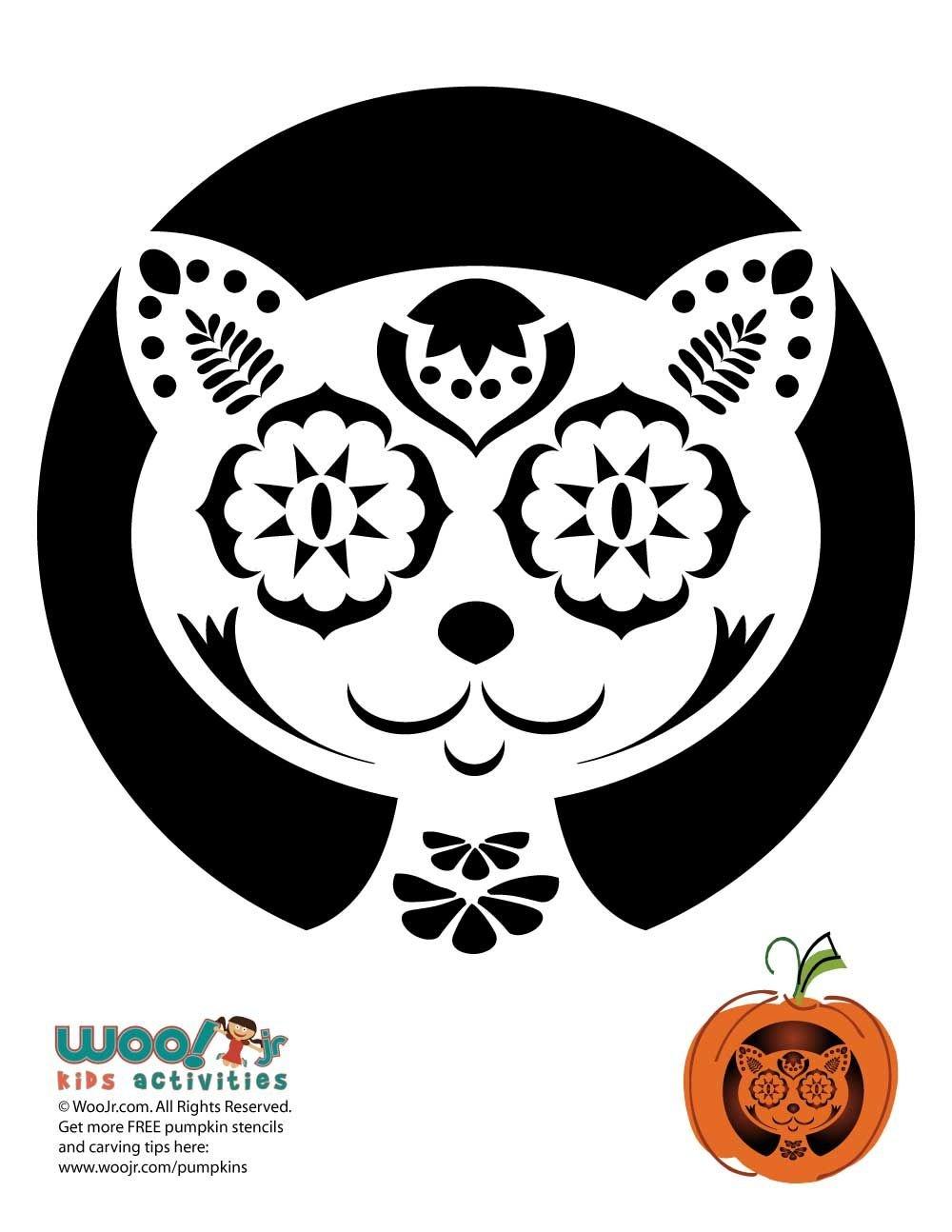 Day Of The Dead Pumpkin Carving Stencils   Mmmm Boo!   Pumpkin - Free Printable Sugar Skull Pumpkin Stencils