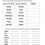Days Of The Week In Spanish Worksheet   Free Esl Printable   Free Printable Elementary Spanish Worksheets