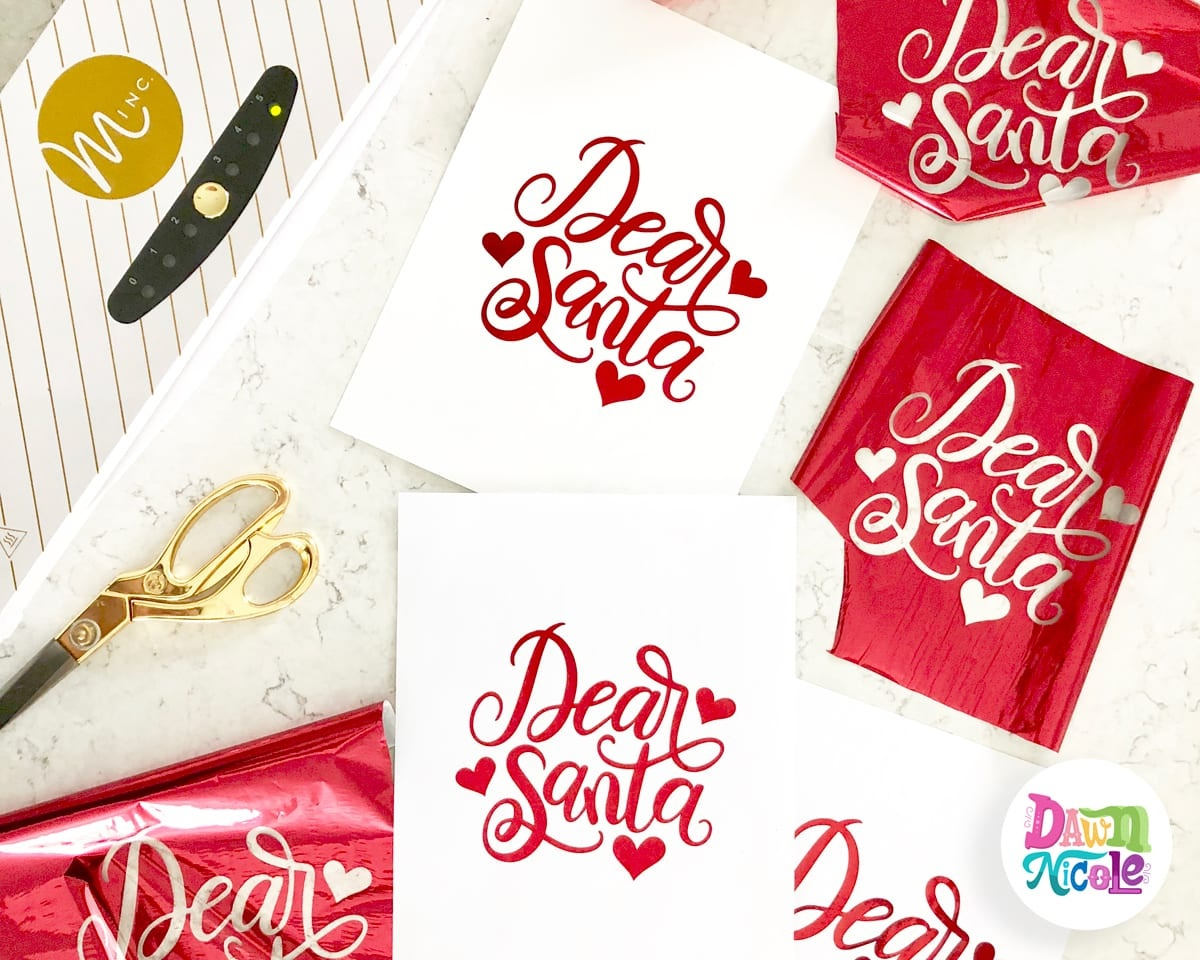 Dear Santa Diy Foil Print + Free Printable | Dawn Nicole Designs® - Free Printables For Foiling