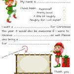 Dear Santa Fill In Letter Template     Free Santa Templates Printable