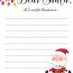 Dear Santa Letter: Free Printable Downloads     Free Santa Templates Printable