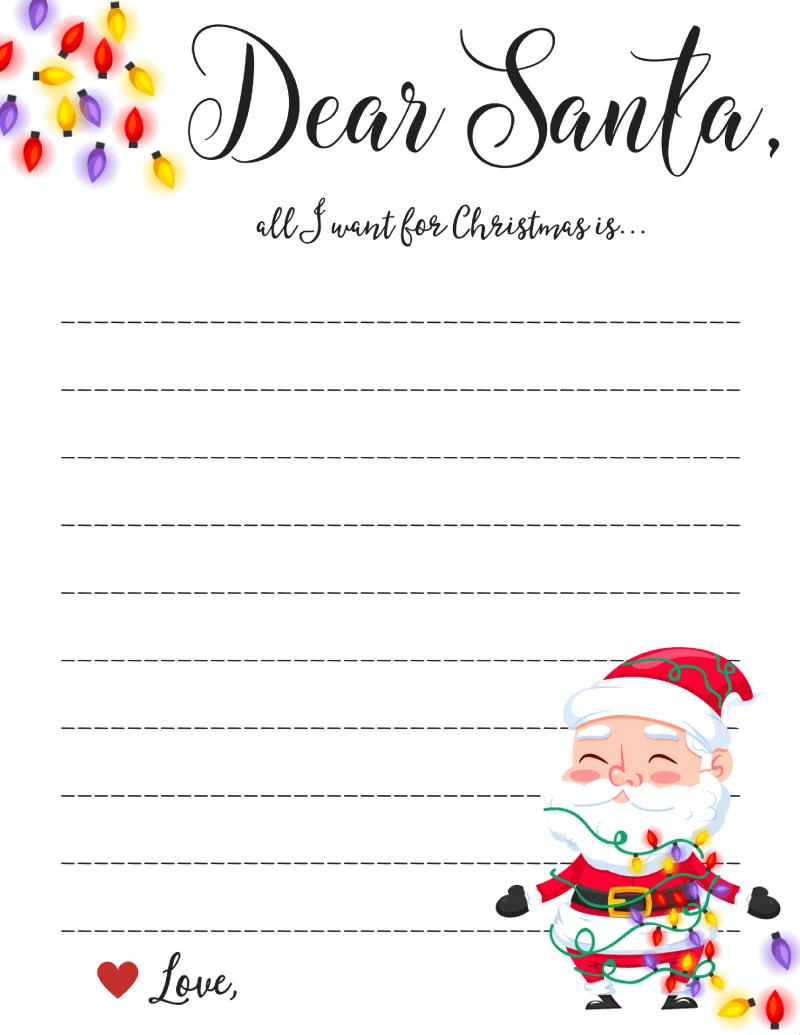 Dear Santa Letter: Free Printable Downloads - - Free Santa Templates Printable