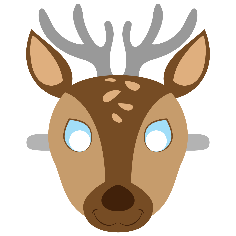 Deer Mask Template   Free Printable Papercraft Templates   Camping - Free Printable Hippo Mask