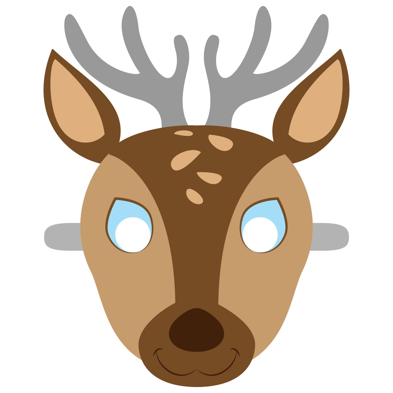 Deer Mask Template   Free Printable Papercraft Templates   Camping - Free Printable Paper Masks