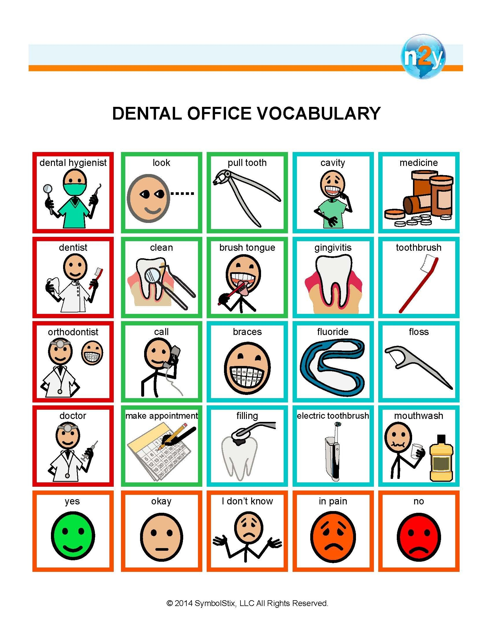 Dental Office Vocabulary For Better Understanding And Communication - Free Printable Widgit Symbols
