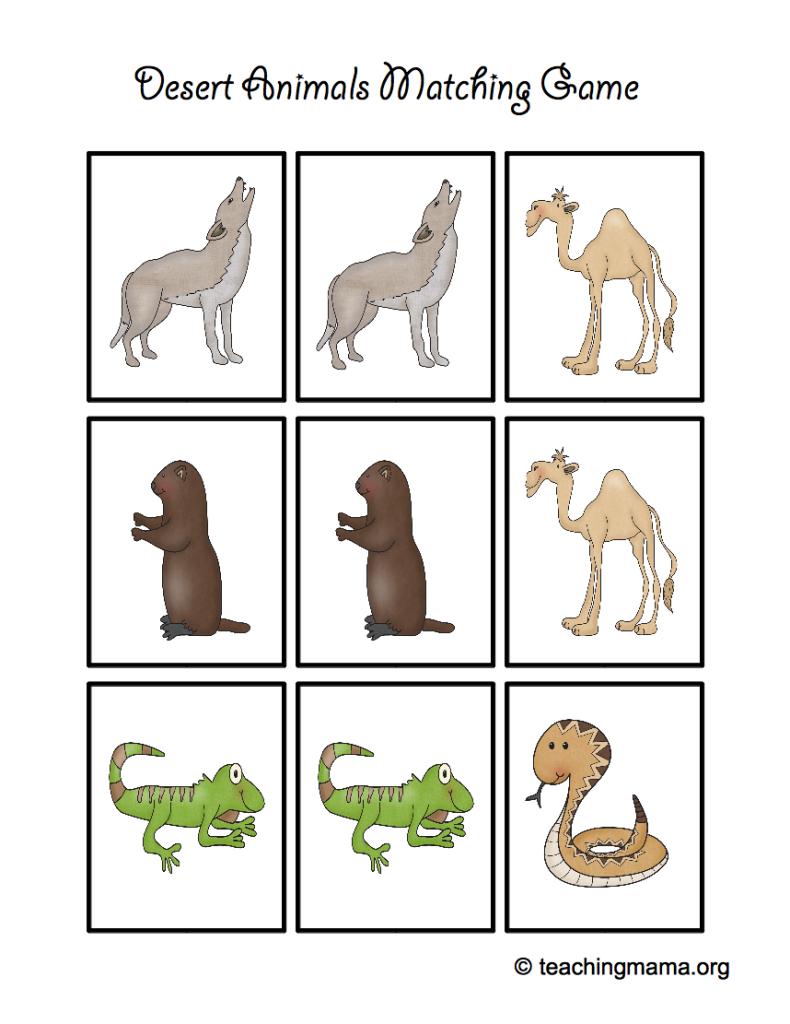 Desert Animal Printables | Desert Activities For Kids | Desert - Free Printable Desert Animals
