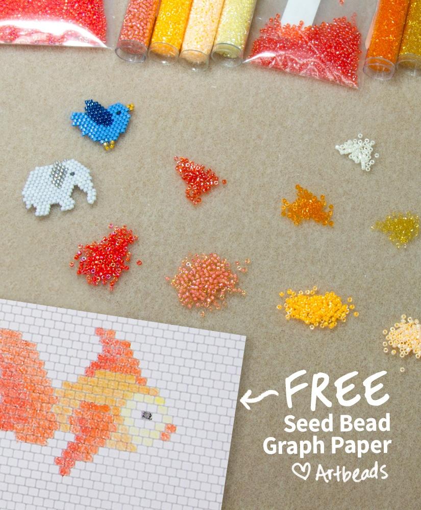 Designer Downloads - Free Printable Seed Bead Graph Paper - Artbeads - Free Printable Beading Patterns