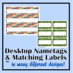 Desk Nametags & Classroom Labels   The Curriculum Corner 123   Free Printable Name Tags For School Desks