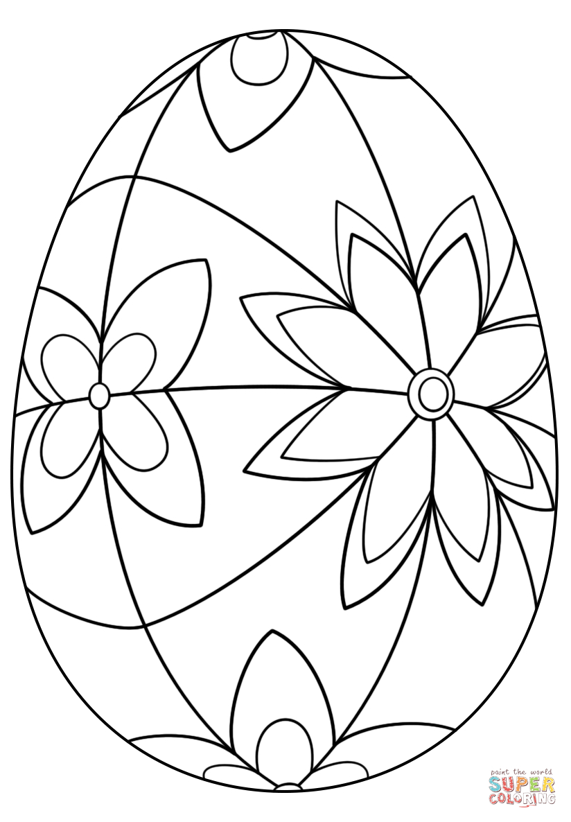 Detailed Easter Egg Coloring Page   Free Printable Coloring Pages - Easter Egg Coloring Pages Free Printable