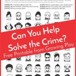Detective Puzzle For Kids   Free Printable   Growing Play   Free Printable Puzzles For Kids
