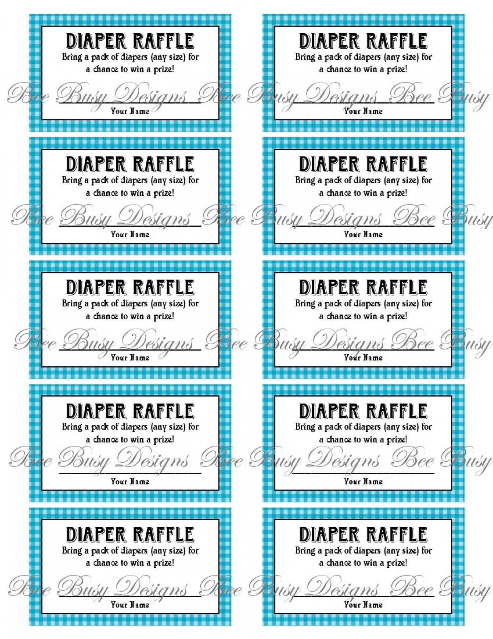 Diaper Raffle Tickets Printable - Tutlin.psstech.co - Diaper Raffle Template Free Printable